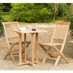Chaise en bois à lattes FSC Eucalyptus Look Teck IMPALA - Maison ...