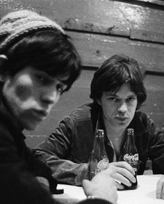 Keith Richards and Mick Jagger sharing a coke, 1960s. Photo by Gered Mankowitz.