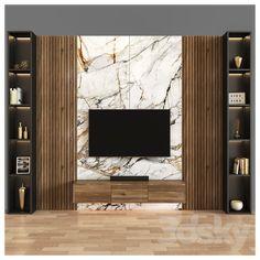 Living Room Wall Units, Living Room Tv Unit Designs, Home Design Living Room, Home Design Decor, Living Room Partition Design, Tv Wall Design, Tv Unit Interior Design, Modern Tv Room, Modern Tv Wall Units