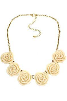 ROMWE   Rose Pendant Adjustable Necklace, The Latest Street Fashion #ROMWEROCOCO