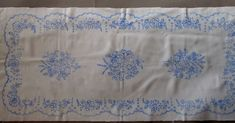 Hungarian Kalocsa Stamped Runner for Hand Embroidery Rich Floral Design  #KalocsaHungary