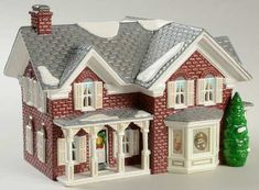 Department 56 Snow Village at Replacements, Ltd Piece Code: Piece Name: Farm House - With Box Style: 54912 Farm Village, Dept 56 Snow Village, Building Department, Department 56, Halloween Labels, Halloween Halloween, Vintage Halloween, Halloween Pumpkins, Halloween Makeup