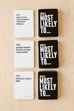 Who's Most Likely To...Party Card Game - UrbanOutfitters.com: Awesome stuff for you & your space