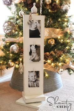 Build this Wooden-Photo-Carousel - lovely and easy! via Shanty 2 Chic