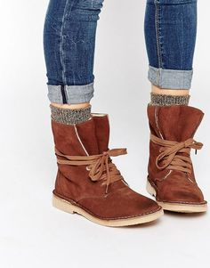 Bronx Ankle Tie Suede Desert Boots