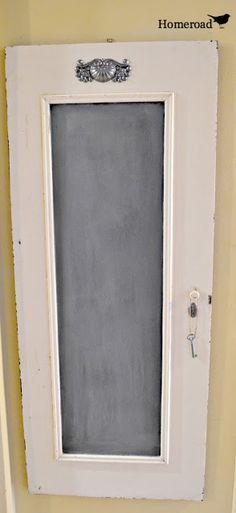 Hometalk :: Piano Pieces Turned Chalkboard Door