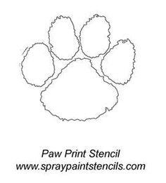 clemson paw print stencil mugs