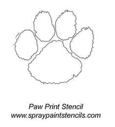 Clemson tiger paw free coloring pages for Tiger paw coloring page