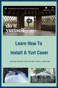 With the bones of your yurt complete, it's time to add the final finish that will protect our yurt from the elements. In this episode, we install the yurt's . Homestead Property, Off Grid Homestead, Building A Yurt, Yurt Interior, Wall Tent, Yurts, Inspiring Things, What It Takes, Rv