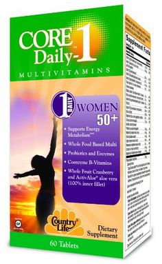 Country Life Core Daily for Women 50 Plus Dietary Supplement 60 Count ** Want to know more, click on the image. Note: It's an affiliate link to Amazon.