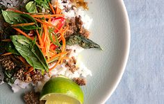 Thai Beef with Basil - Basil is wilted like a leafy green in this stir-fry, then added raw at the end for a double dose. Love @Bon Appetit Magazine, online and the subscription i've had for 8 years.
