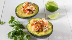 Easy Cinco de Mayo food: Ceviche stuffed avocado #recipe