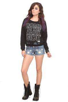 Amazon.com: Star Wars Dark Side Slash Girls Pullover Sweatshirt: Clothing