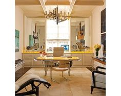 Light Contemporary Home Office - Home and Garden Design Ideas