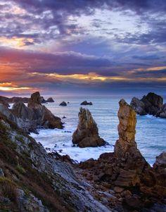 Rock Formations, Blue Brown, Spain, Scenery, Ocean, Sky, Stock Photos, Explore, World