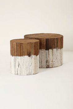paint half of log and use a sealant to protect fro moisture