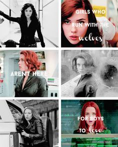 Black Widow: There are wolves, they would say. And there are stories about wolves and girls. Girls in red. All alone in the woods, about to get eaten up. Wolves and girls. Both have sharp teeth.