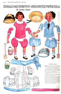 Donald-and-Dorothy-jointed-paper-dolls.jpg (554×843)