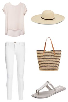 """Minimal Wardrobe Summer Outfit #6"" by hejdoll ❤ liked on Polyvore featuring Frame Denim and Mar y Sol"