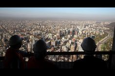 View from Costanera Center (Santiago, Chile), tallest building in LatinAmerica