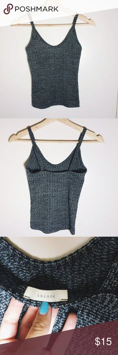Poetry Knit Tank Top NWOT, perfect condition! Never worn. Super cute and soft knit tank in dark heathered grey color. Stretchy and form fit, very flattering fit! Poetry Tops Tank Tops