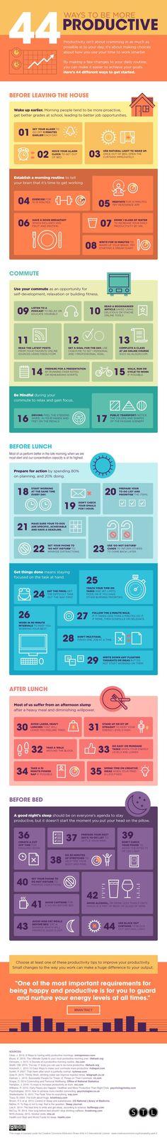 Infographic vergroot jouw productiviteit | Webmaster Resources