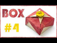 Easy origami Box tutorial. Box for gift. #4 - YouTube