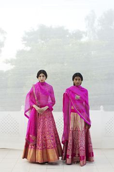 Pink. The navy blue of India. Designed by Sanjay Garg