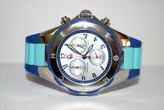 Nice duo: light and dark blue defines my playful Michele watch  --> MICHELE Women's WATCH Large Jelly Bean Blue Color Block Tahitian MWW12F000071 #Michele #LuxuryDressStyles #Watch #Fashion $199.77