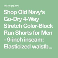 6fc2c87042 Go-Dry 4-Way Stretch Color-Block Run Shorts for Men - 9-inch inseam