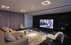 Living room with tv home theaters 41 Ideas Home Theater Room Design, Home Cinema Room, Home Theater Rooms, Living Room Theaters, Small Home Theaters, Living Room Tv, Kitchen Living, Home Theaters Pequenos, Salas Home Theater