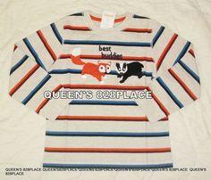 Kids Mickey Mouse Long Sleeve Top Shirt Boys Girls Cartoon Striped T-shirts Tee