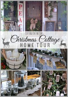 Cottage in the Oaks Christmas Home Tour with tons of links to DIY projects!