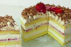 Ваши гости оценят этот сладкое изделие по достоинству! Потрясающе мягкий, ароматный, тающий во рту, в меру сладкий тортик с клубникой — быстрый в приготовлении.