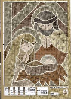 presepe rustico1 Xmas Cross Stitch, Cross Stitch Christmas Ornaments, Cross Stitch Needles, Christmas Cross, Christmas Nativity Scene, Cross Stitching, Cross Stitch Designs, Cross Stitch Patterns, Theme Noel