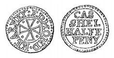 Aquilla Smith's engraving of Edmond Kearney's halfpenny token (Cashel)