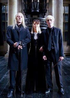 Malfoy Family <3 I'd have to say that I'd be a Malfoy if I wasn't a brunett...
