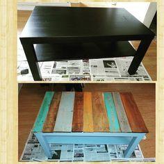 19.99 ikea coffee table turn into shabby chic