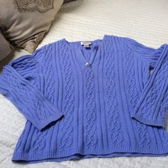 Flash Sale Lavender Talbots Sweater Soft and warm, pretty rib knit pattern in this Talbot Sweater, lovingly warm but still cozy and pretty Talbots Sweaters Crew & Scoop Necks