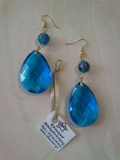 Blue ear rings