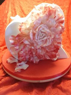 3D Heart cake with rose