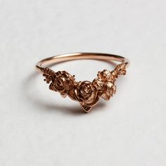 Rose Chevron Ring – Rose Gold by Lee Renee Cute Jewelry, Jewelry Accessories, Silver Roses, Rose Gold, Yellow Gold Rings, White Gold, Alternative Wedding Rings, Chevron Ring, Pretty Rings