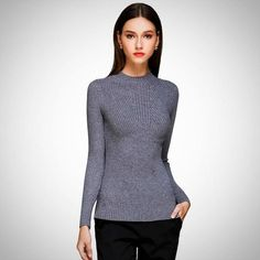 2dac3a7917 Elegant women sweater 2017 Autumn Winter Turtleneck Shirt