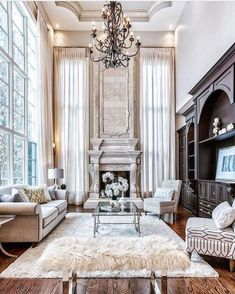 Get The Scoop On Luxury Mansions Interior Living Rooms Before You're Too Lat. - Get The Scoop On Luxury Mansions Interior Living Rooms Before You're Too Lat… Get The - Mansion Interior, Living Room Interior, Home Living Room, Living Room Designs, Living Room Decor, Mansion Rooms, Apartment Living, Luxury Living Rooms, Home Interior