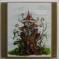 heidys,scrappies: Stumpy Fungi House