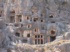 Antic Myra Rock Tombs in Antalya, Turkey