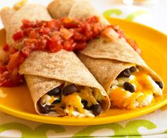 healthy breakfast burritos Vegetable cooking spray