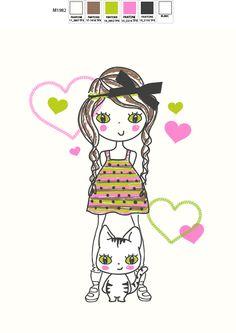 © MALORIE girl design sold 2014