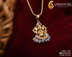 22 Carat gold Ganesh pendant studded with Diamonds,, Swarnsri Gold & Diamonds, Vijayawada. For Details Contact Emerald Jewelry, Gold Jewelry, Beaded Jewelry, Baby Jewelry, India Jewelry, Diamond Jewellery, Gold Necklace, Gold Pendants For Men, Ganesh Pendant