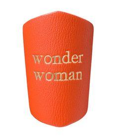Picture of Manchette cuir Wonderwoman orange